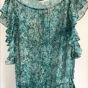 Diane Von Furstenberg Silk Chiffon Dress size 6